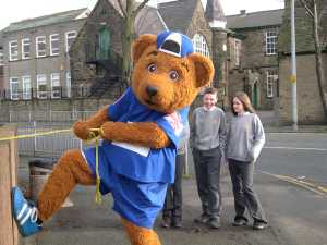 Stockport County Mascot Vernon Bear